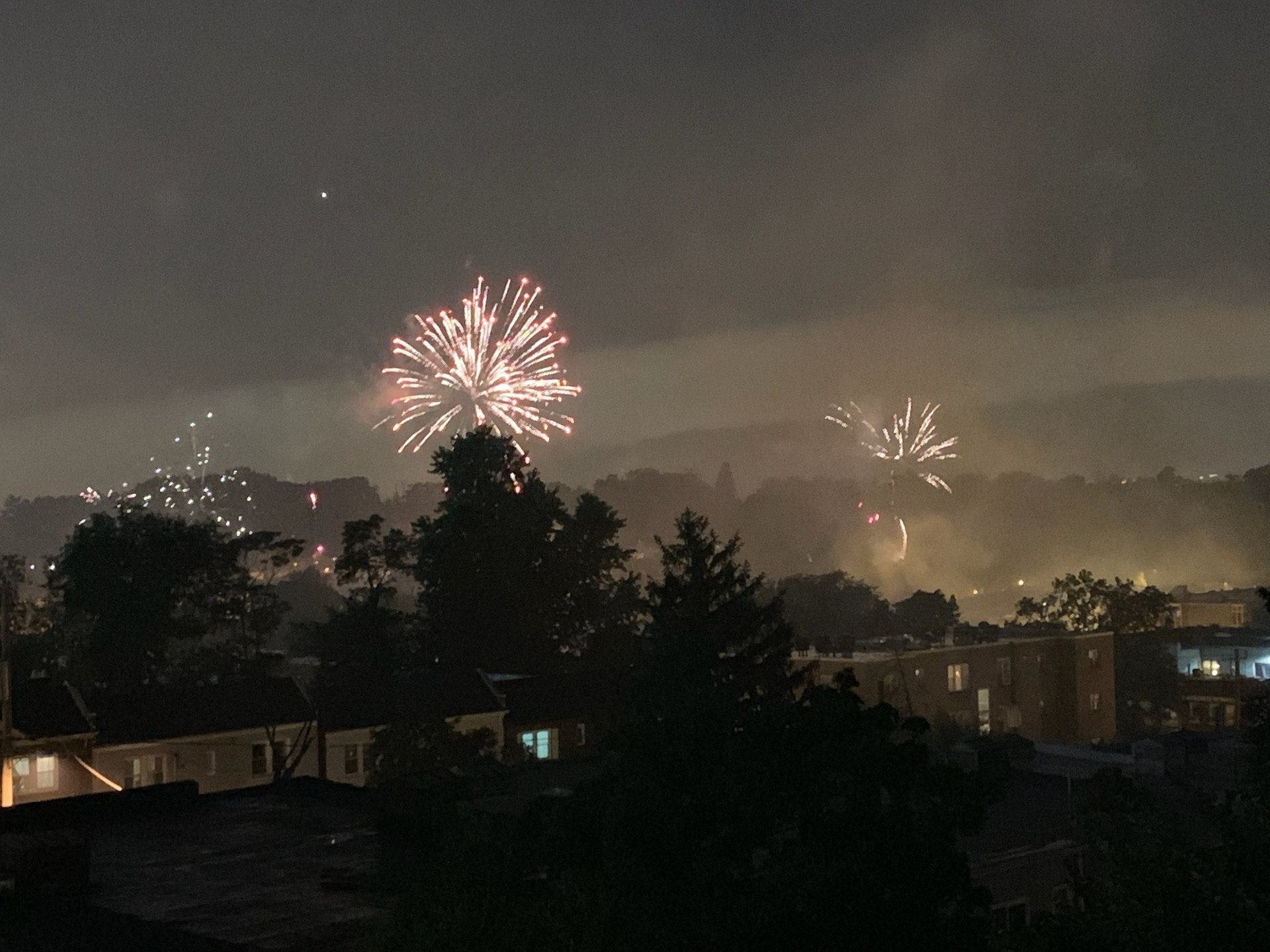 View of fireworks from this roof deck...awesome!