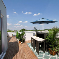 1000 sf roof deck nothing but sky...
