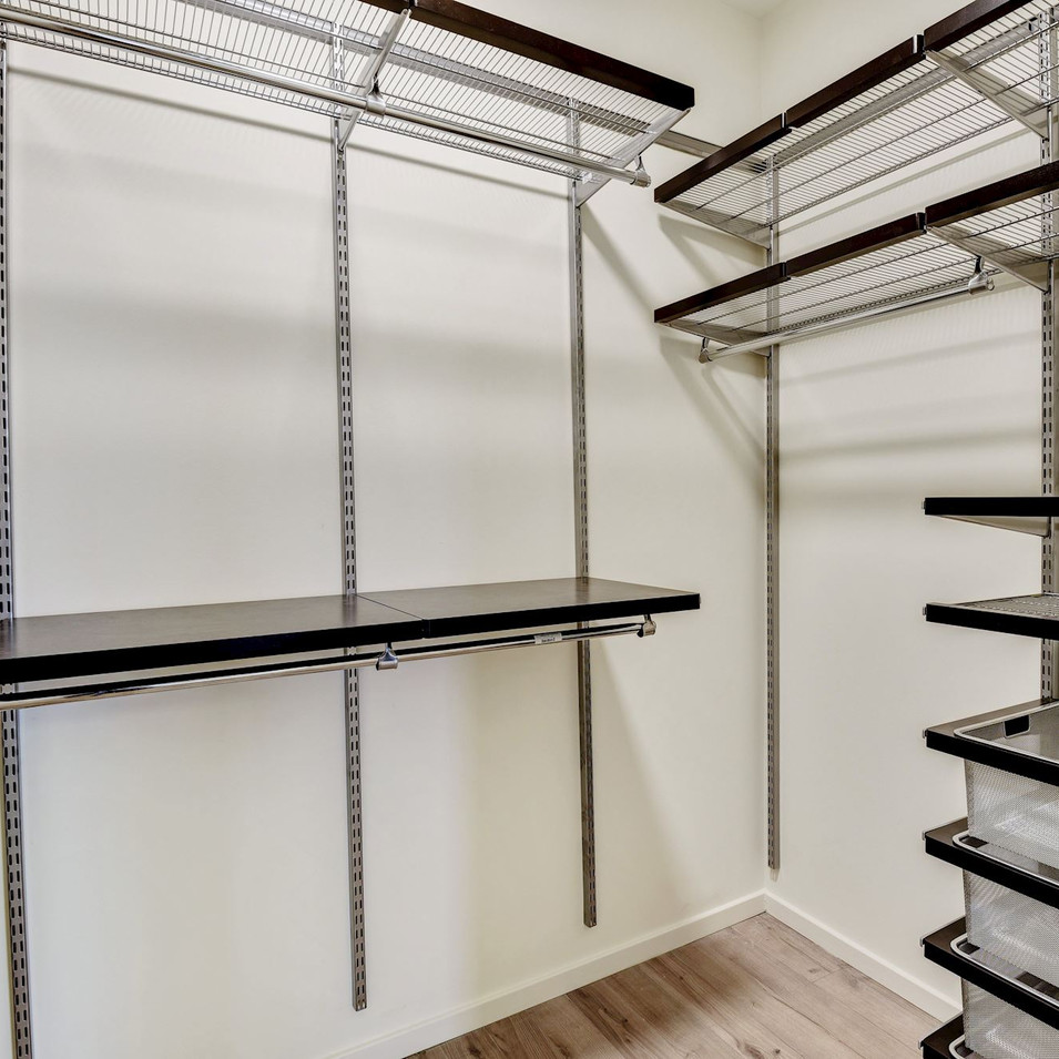 Owner's suites come with custom Elfa closet systems