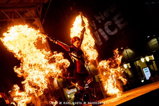 HAPPY NEW YEAR TWICE, Fire show