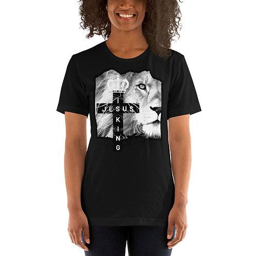 Jesus Is King White Letters Short-Sleeve Unisex T-Shirt
