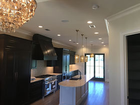 Coastal Dunes Electric can lights and hanging kitchen lights