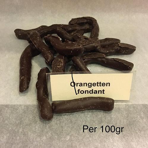 Orangetten fondant/melk 100gr
