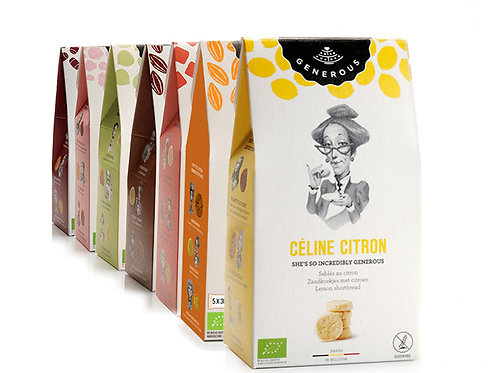 BIO Generous Céline Citron zandkoekjes 120gr