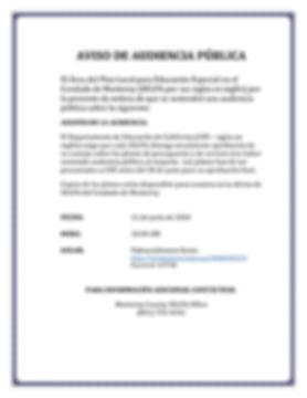 NOTICE OF PUBLIC HEARING, ABP-ASP SP 202