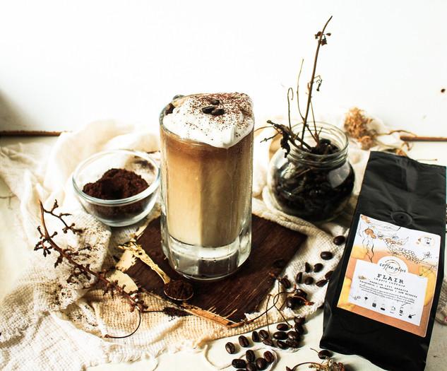 Cinnamon infused iced latte