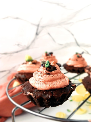 Chocolate cupcake with butter cream frosting