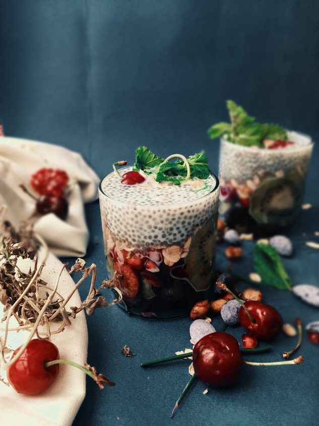 Chia seed fruit pudding