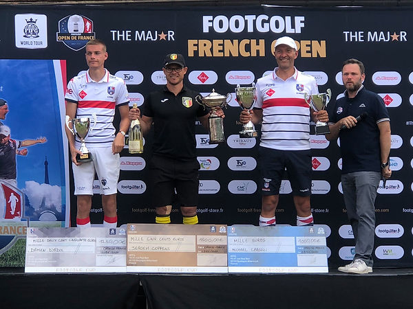 Jeroen Coppens wint Major, de French Open Footgolf 2020