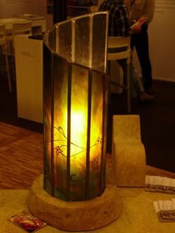 lampe tube dentelle