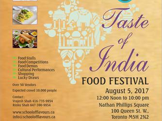 TASTE OF INDIA FOOD FESTIVAL