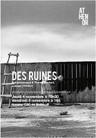 """""""Des Ruines""""  Raharimanana & T.Bédard, notoire [Théâtre], le jeudi 4 et vendredi 5 nov"""