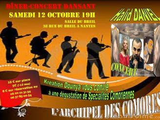 Kréation Dounya ce Samedi 12 octobre à Nantes