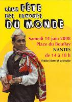 8 ème Fête des langues du monde à Nantes ce samedi 14 juin