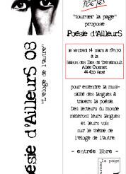 Poésie d'AilleurS à la Maison des îsles de Trentemoult ce vendredi 7 mars à 19h30