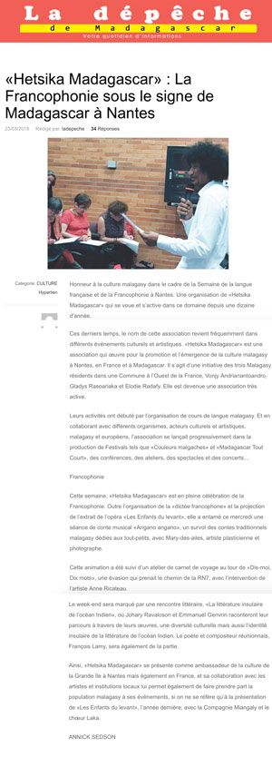 201803_LeDepeche_articleFrancophonieW