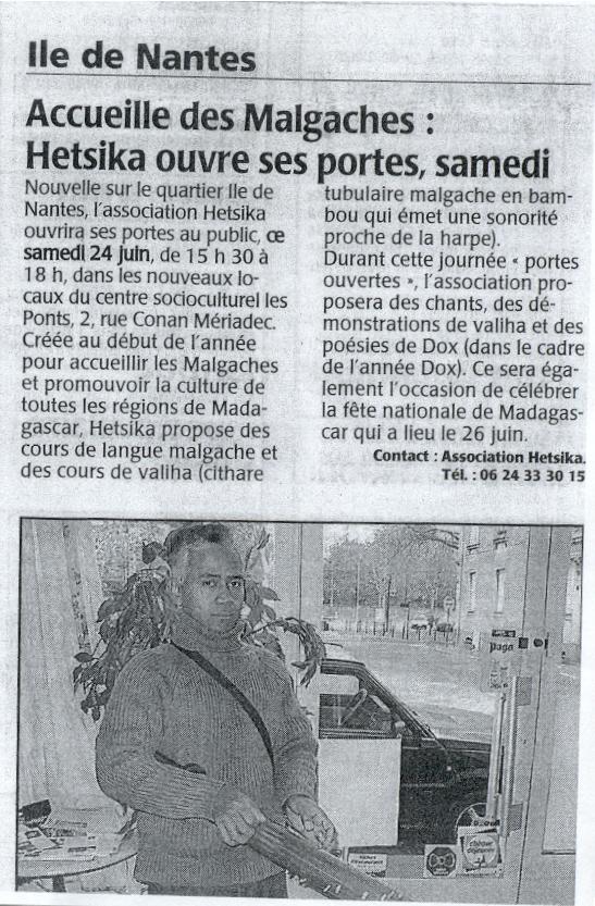Ouest-France Juin 2006
