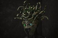 Créature mutante pour illustrer la saga des Mondes Mutants de l'auteure Christine Barsi
