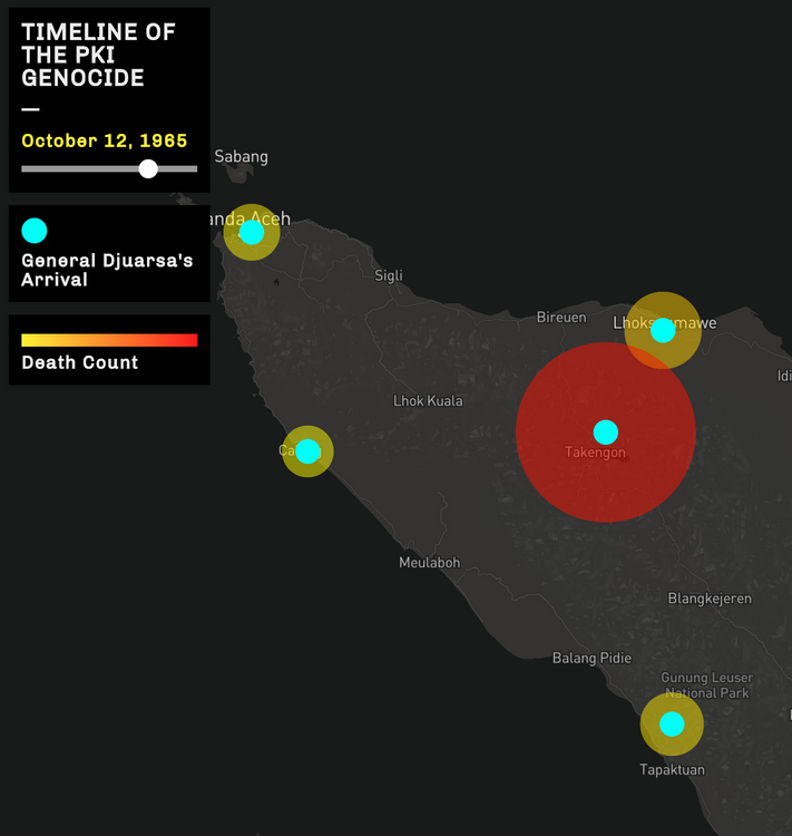 Impossible Maps | The Death Map of the 1965 Communist Genocide in Aceh