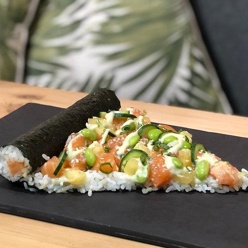 Somon Sushi Pizza Dilimi