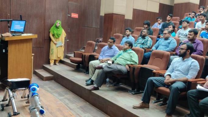 Seminar on Multirobot Control Systems at Independent University Bangladesh