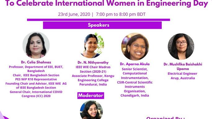 A webinar to celebrate International Women in Engineering Day 2020