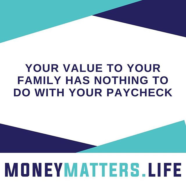 your value has nothing to do with your paycheck