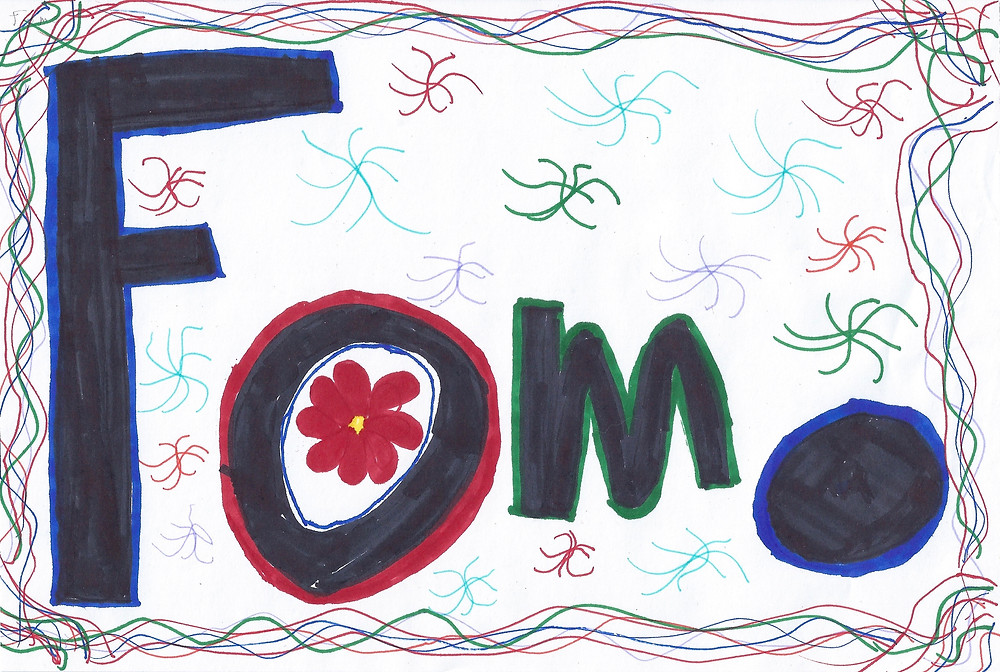 "Juliet's drawing of ""FOMO"""