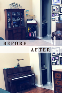 before and after pool room clutter