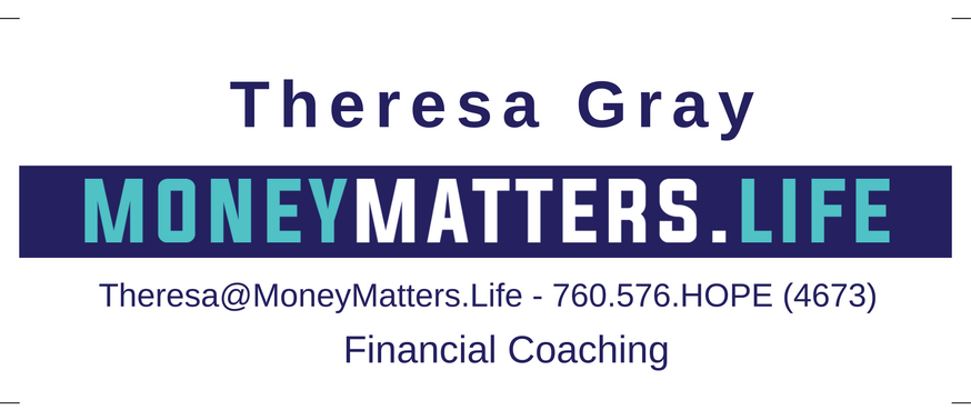 My new business card for financial coaching