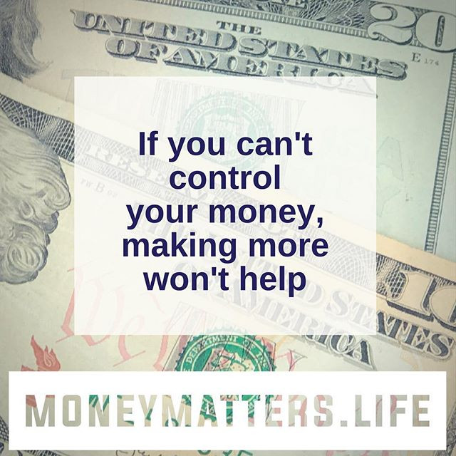 making more money isn't the answer