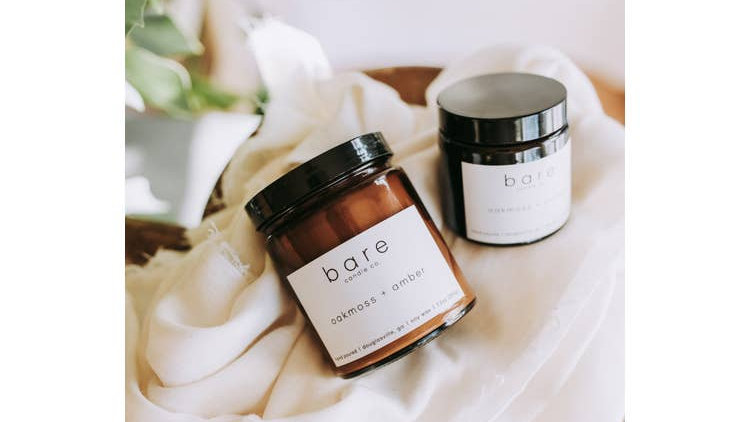 Oakmoss + Amber Candle 7.2oz  // Bare Candle Co