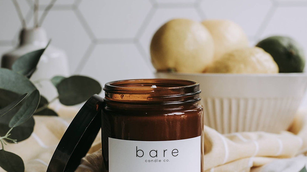 Citrus + Fig Soy Candle 7.2oz  // Bare Candle Co