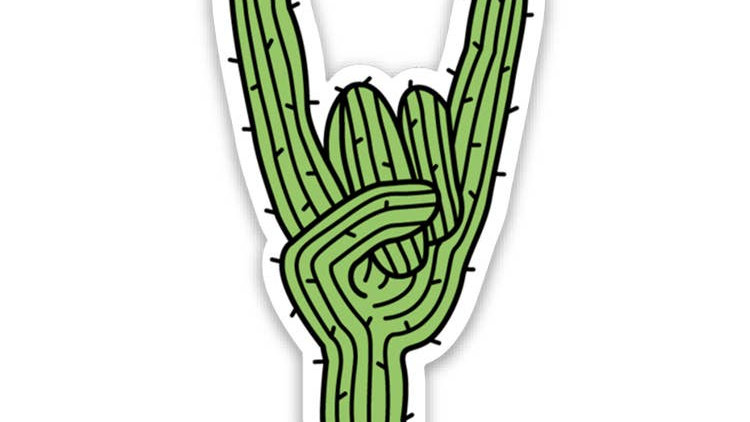 Keep Nature Wild // Rockin Saguaro Sticker