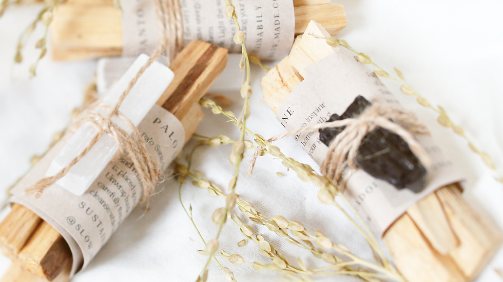 Palo Santo Bundles + Selenite Crystal