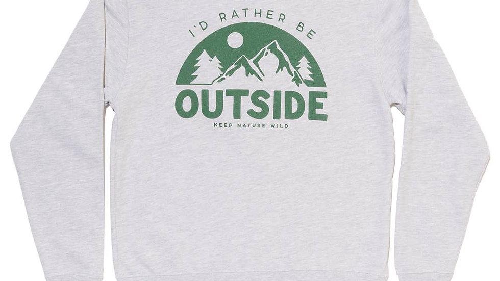 Be Outside Outside Unisex Sweatshirt // Heather Gray