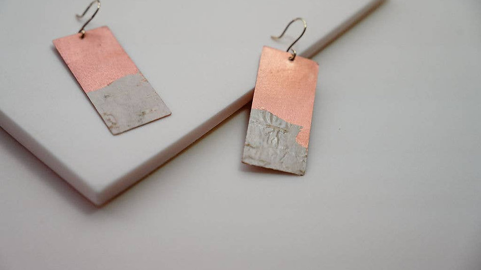 Long Birch Bark Earrings