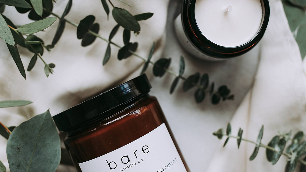 Eucalyptus + Spearmint Soy Candle 7.2oz  // Bare Candle Co