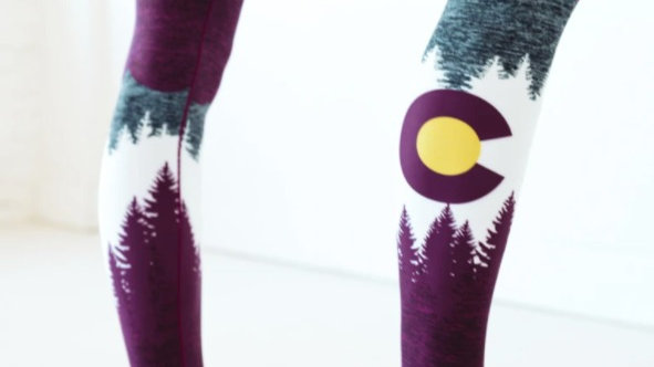Burgundy Native Yoga Pant // Colorado Threads