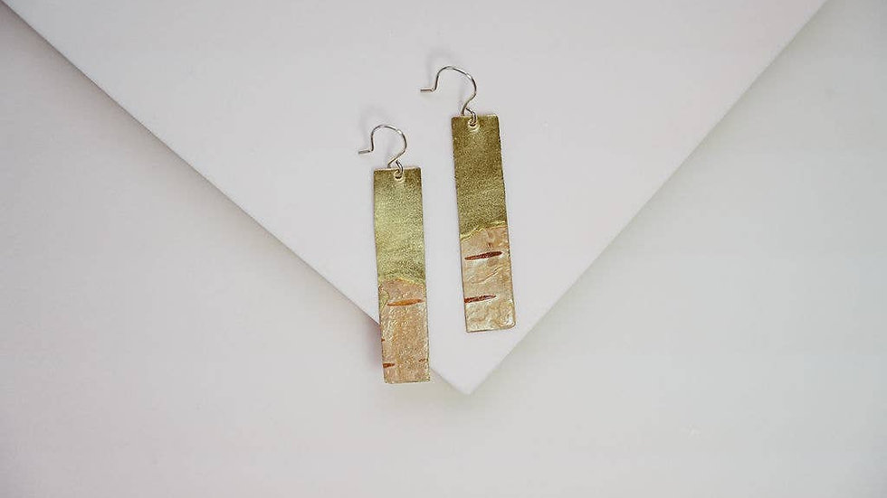 Thin Birch Bark Earrings