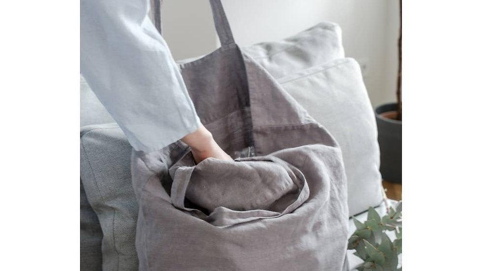 Linen Bag in Grey
