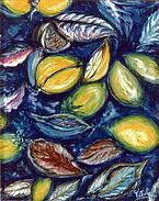 Tabacco e Limoni tempera su tela 40x50.J