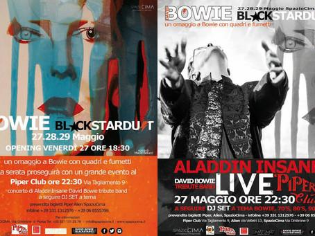 David Bowie Blackstardust Event. Aladdin Insane on stage at Piper Club