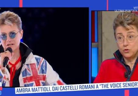 """""""Oggi è un altro giorno"""" Rai 1 talk show. Serena Bortone interviews Ambra Mattioli"""