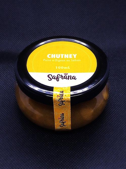 Chutney au safran (Poire-Oignon) (100 ml)