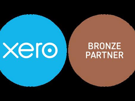 Now we are a XERO Bronze partner!