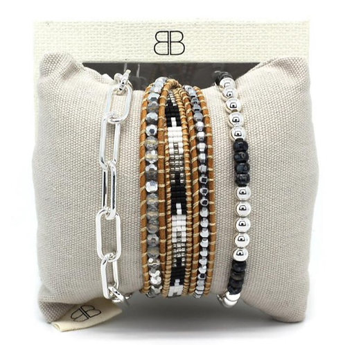 Izmur 3 Layered Stack Bracelet