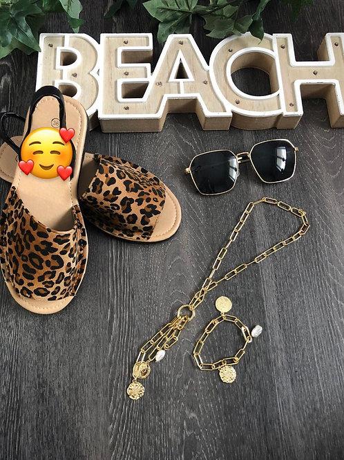 Leopard Print Beach Shoes