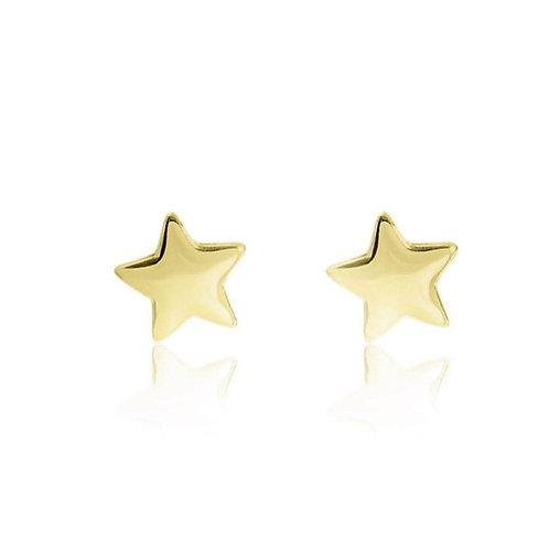 Star Stud Gold Earrings