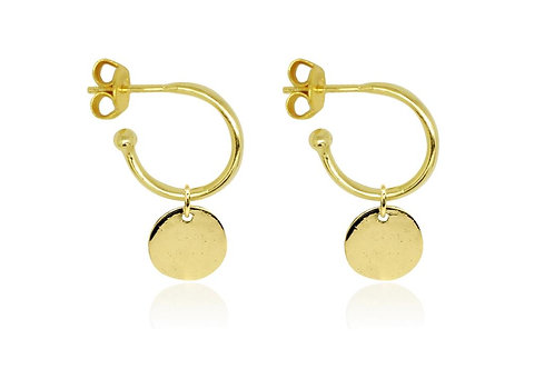 Gargo Gold Disc Charm Earrings